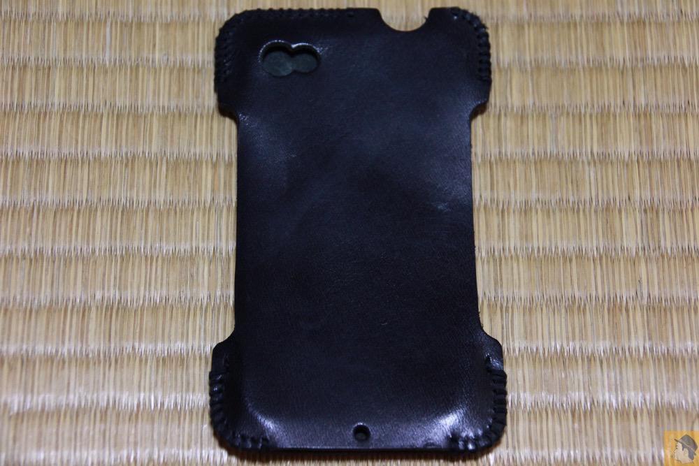 背面 - abicase(アビケース) cawa ヌメ革 ブラック / iPhone 4S / 使用期間が少なかったabicase