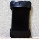 使用期間は少なかったabicase(アビケース)/ abicase cawa シンプルジャケット ヌメ革 ブラック / iPhone 4S