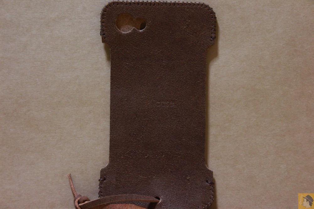 背面 - ペラペラな革使ったabicase(アビケース)/ abicase cawa シンプルジャケット / iPhone 5/5s