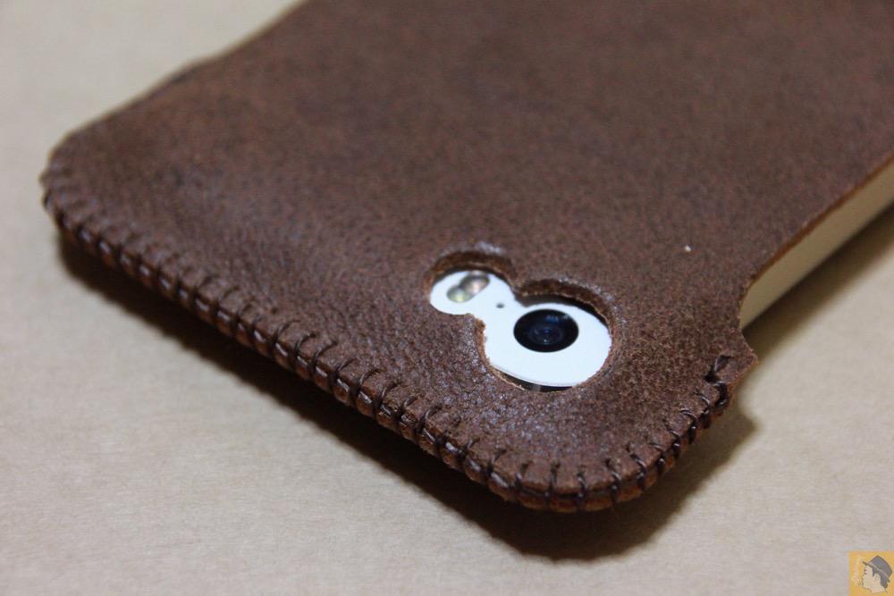 カメラ穴 - ペラペラな革使ったabicase(アビケース)/ abicase cawa シンプルジャケット / iPhone 5/5s