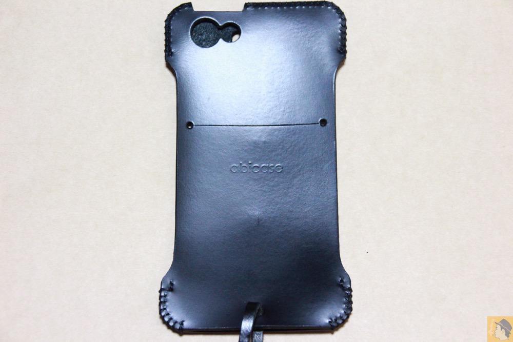 背面 - abicase(アビケース) cawa ウォレットジャケット スムースレザー / iPhone 5/5s / 2枚革じゃないけどウォレットジャケットのabicase