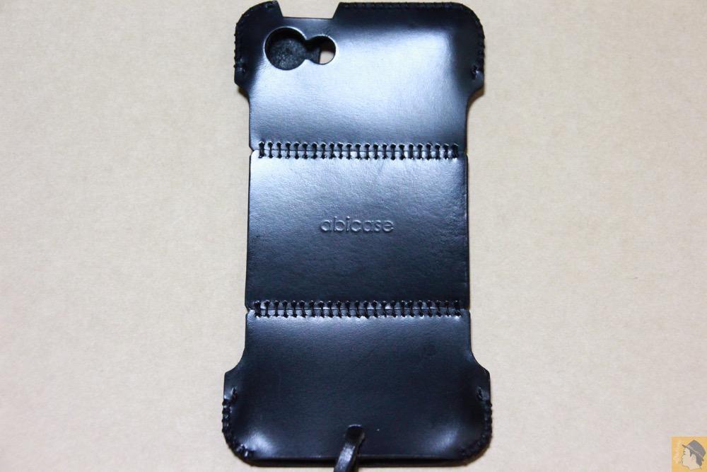 背面 - ツギハギデザインのスムースレザーabicase(アビケース)/ abicase cawa シンプルジャケット スムースレザー / iPhone 5/5s