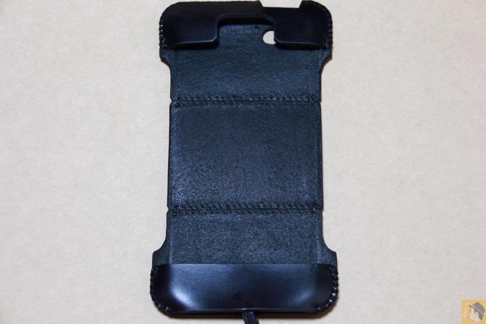 表面 - ツギハギデザインのスムースレザーabicase(アビケース)/ abicase cawa シンプルジャケット スムースレザー / iPhone 5/5s
