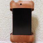 エイジングしたかのような色のabicase(アビケース)/ abicase cawa シンプルジャケット 栃木レザー 飴色 / iPhone 4S