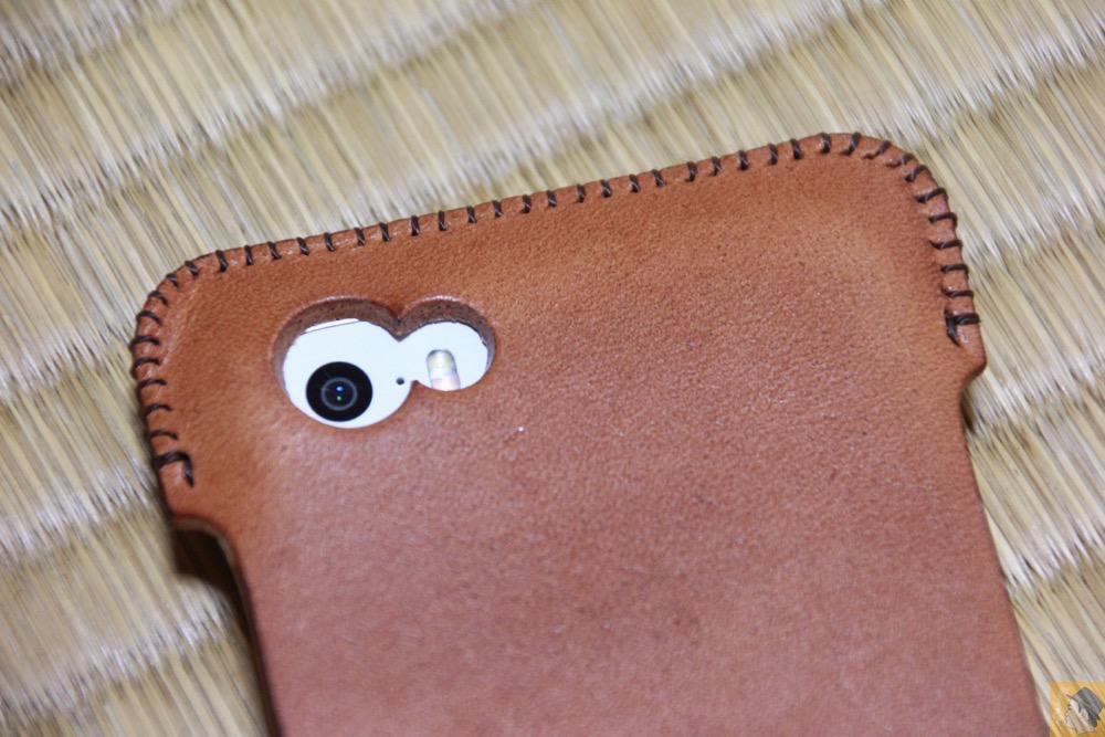 カメラ穴 - ウォレットジャケットだらけの中シンプルなabicase(アビケース)/ abicase cawa シンプルジャケット 栃木レザー 飴色 / iPhone 5/5s