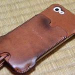 今となっては珍しいタイプのabicase(アビケース)/ abicase cawa ウォレットジャケット 栃木レザー 飴色 / iPhone 5/5s