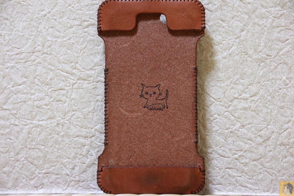 表面 - 今となっては珍しいタイプのabicase(アビケース)/ abicase cawa ウォレットジャケット 栃木レザー 飴色 / iPhone 5/5s