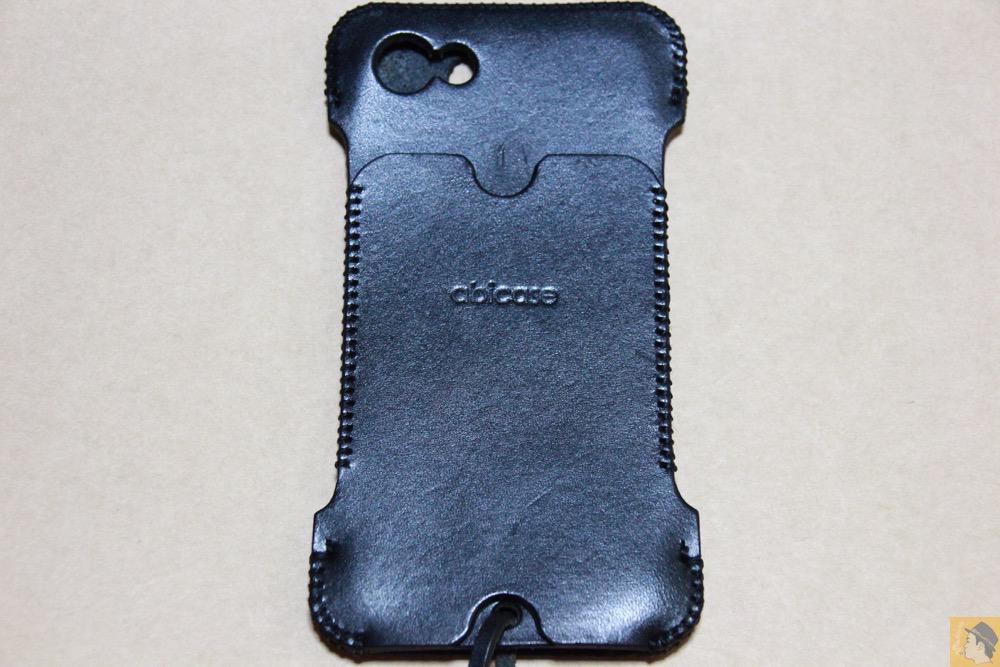 背面 - まだあった珍しいタイプのabicase(アビケース)/ abicase cawa ウォレットジャケット 栃木レザー / iPhone 5/5s