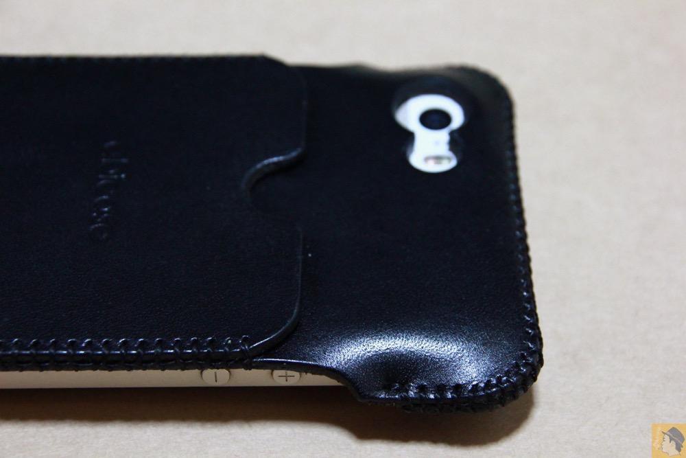 上部フラップ - abicase(アビケース) cawa ウォレットジャケット 栃木レザー / iPhone 5/5s / まだあった珍しいタイプのabicase