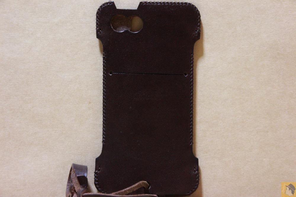 背面 - レア色だったチョコabicase(アビケース)/ abicase cawa ウォレットジャケット 栃木レザー チョコ / iPhone 5/5s