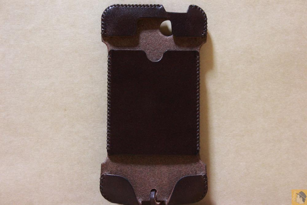 表面 - abicase(アビケース) cawa ウォレットジャケット 栃木レザー チョコ / iPhone 5/5s / レア色だったチョコabicase