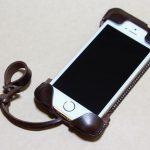 レア色だったチョコabicase(アビケース)/ abicase cawa ウォレットジャケット 栃木レザー チョコ / iPhone 5/5s