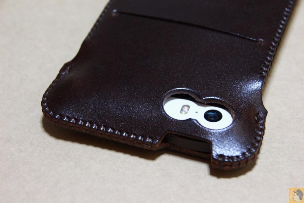 カメラ穴 - レア色だったチョコabicase(アビケース)/ abicase cawa ウォレットジャケット 栃木レザー チョコ / iPhone 5/5s