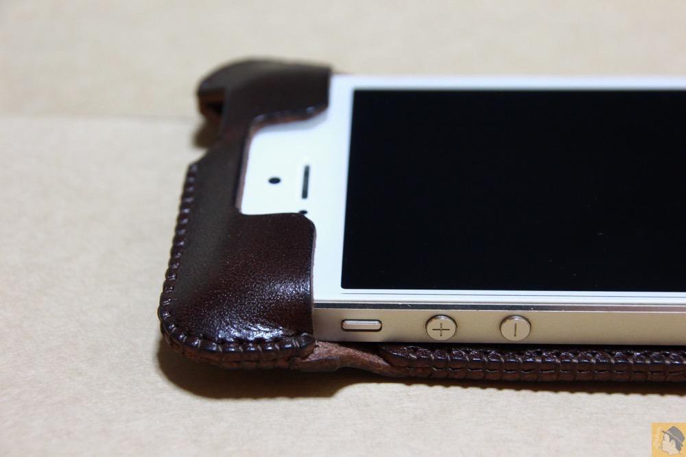 サイド - レア色だったチョコabicase(アビケース)/ abicase cawa ウォレットジャケット 栃木レザー チョコ / iPhone 5/5s