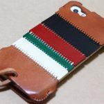 カラフルトリコロールのabicase(アビケース)/ abicase cawa シンプルジャケット 栃木レザー トリコロール / iPhone 5/5s