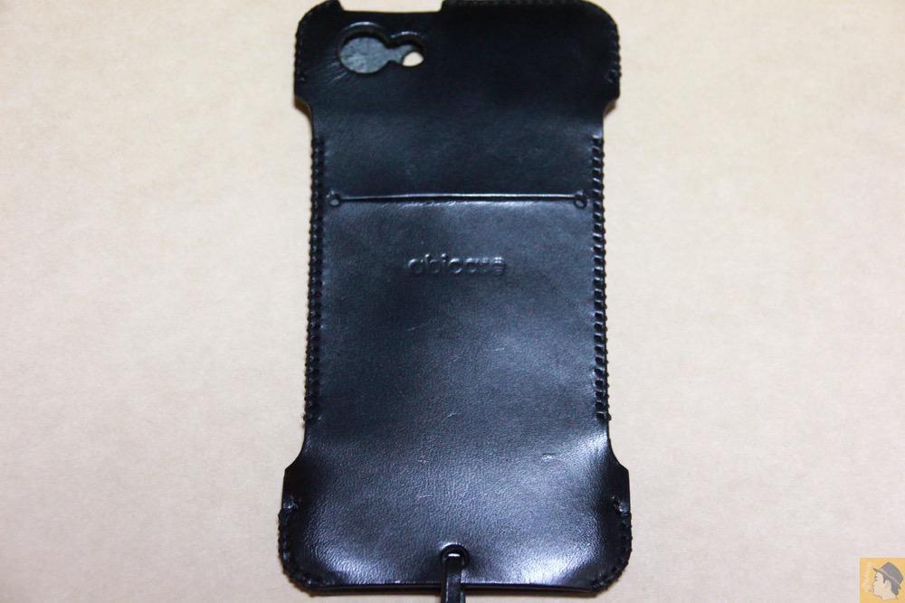 背面 - 自分の中では外せないカラーのabicase(アビケース)/ abicase cawa ウォレットジャケット 栃木レザー ブラック / iPhone 5/5s