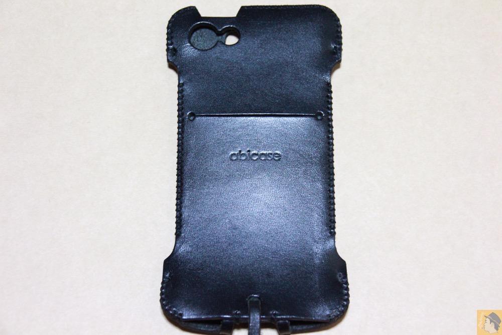 背面 - 指紋認証に初めて対応したabicase(アビケース)/ abicase cawa ウォレットジャケット 栃木レザー ブラック  / iPhone 5/5s