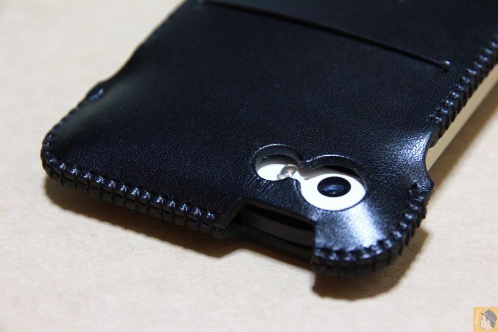 カメラ穴 - 指紋認証に初めて対応したabicase(アビケース)/ abicase cawa ウォレットジャケット 栃木レザー ブラック  / iPhone 5/5s