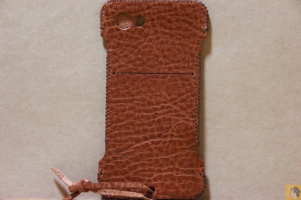 背面 - もう1つのオイルバケッタレザーのabicase(アビケース)/ abicase cawa ウォレットジャケット オイルバケッタ ブラウン/ iPhone 5/5s