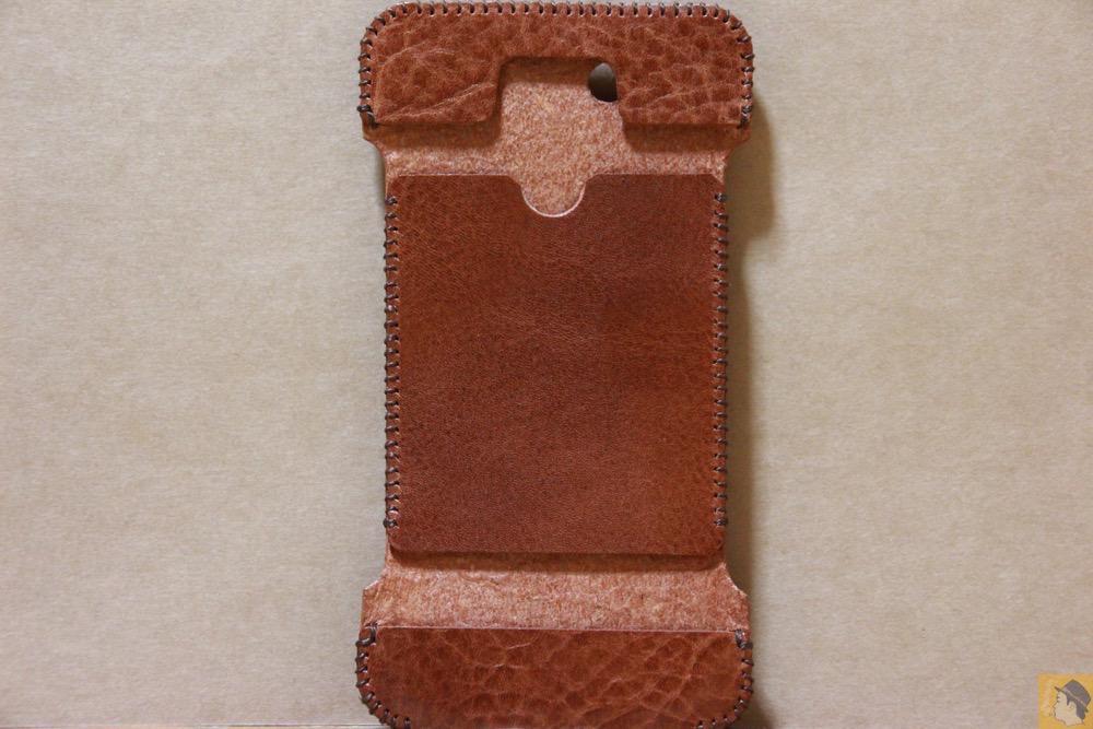 表面 - もう1つのオイルバケッタレザーのabicase(アビケース)/ abicase cawa ウォレットジャケット オイルバケッタ ブラウン/ iPhone 5/5s