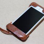 もう1つのオイルバケッタレザーのabicase(アビケース)/ abicase cawa ウォレットジャケット オイルバケッタ ブラウン/ iPhone 5/5s