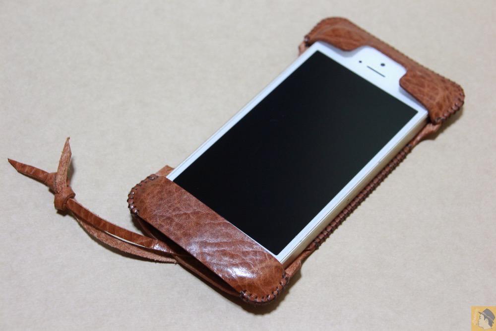 アイキャッチ - abicase(アビケース) cawa ウォレットジャケット オイルバケッタ ブラウン/ iPhone 5/5s / もう1つのオイルバケッタレザーのabicase アビケース