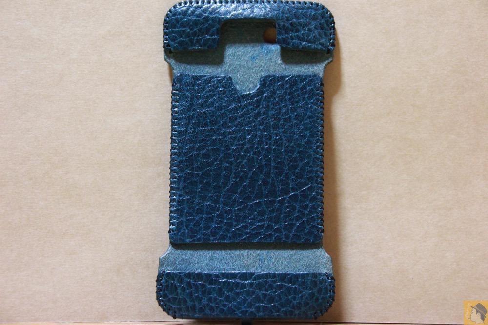 表面 - オイルバケッタブルーが綺麗なabicase(アビケース)/ abicase cawa ウォレットジャケット 栃木レザー オイルバケッタブルー / iPhone 5/5s