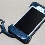 オイルバケッタブルーが綺麗なabicase(アビケース)/ abicase cawa ウォレットジャケット 栃木レザー オイルバケッタブルー / iPhone 5/5s