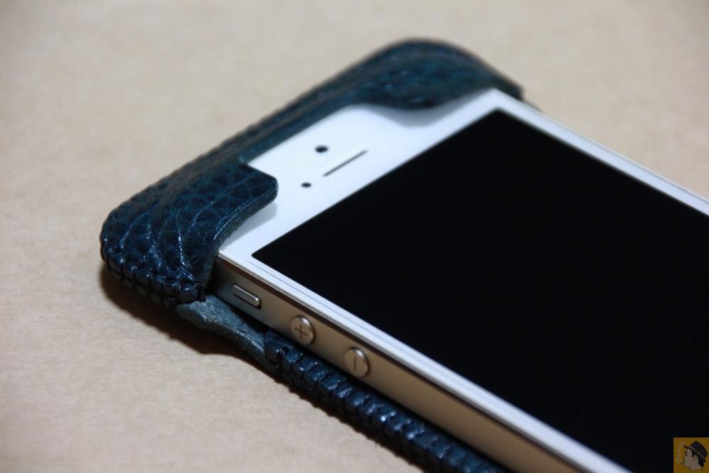 上部フラップ - オイルバケッタブルーが綺麗なabicase(アビケース)/ abicase cawa ウォレットジャケット 栃木レザー オイルバケッタブルー / iPhone 5/5s