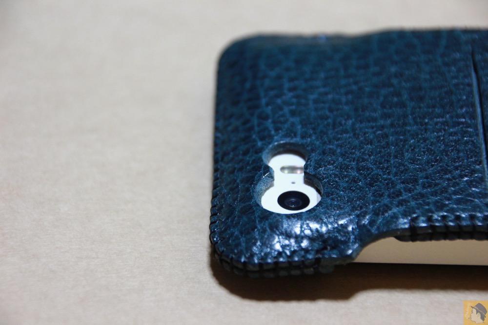 カメラ穴 - オイルバケッタブルーが綺麗なabicase(アビケース)/ abicase cawa ウォレットジャケット 栃木レザー オイルバケッタブルー / iPhone 5/5s