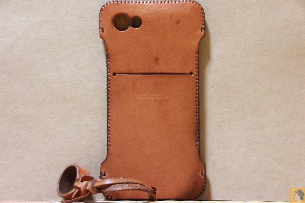 背面 - abicase(アビケース) cawa wallet jacket 栃木レザー 飴色 / iPhone 5/5s / シミを作ってしまいアタフタしたabicase