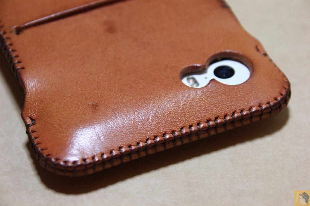 カメラ穴 - abicase(アビケース) cawa wallet jacket 栃木レザー 飴色 / iPhone 5/5s / シミを作ってしまいアタフタしたabicase