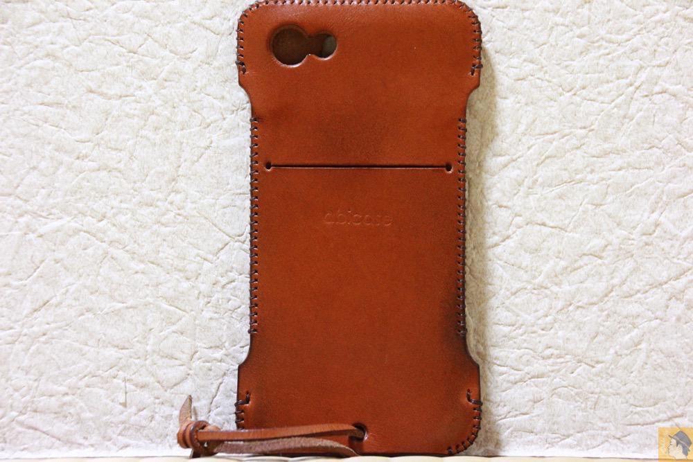背面 - abicase(アビケース) cawa wallet jacket 栃木レザー キャメル / iPhone 5/5s / エイジングすると良い色になるabicase
