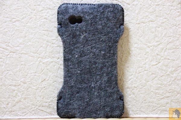 背面 - 初めて買ったabicase(アビケース)/ abicase felt gray / iPhone 3GS