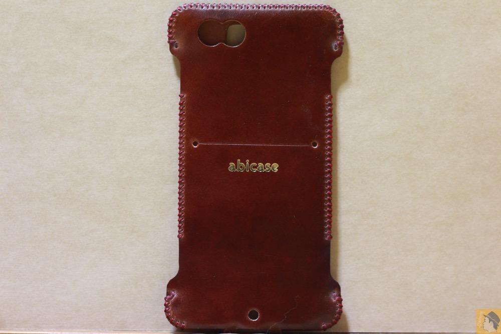 背面 - レッドブラウン色が魅力的なabicase(アビケース)/ abicase cawa ウォレットジャケット コードバン レッドブラウン  / iPhone 6/6s