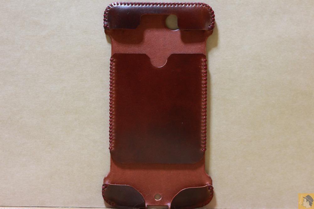 表面 - レッドブラウン色が魅力的なabicase(アビケース)/ abicase cawa ウォレットジャケット コードバン レッドブラウン  / iPhone 6/6s