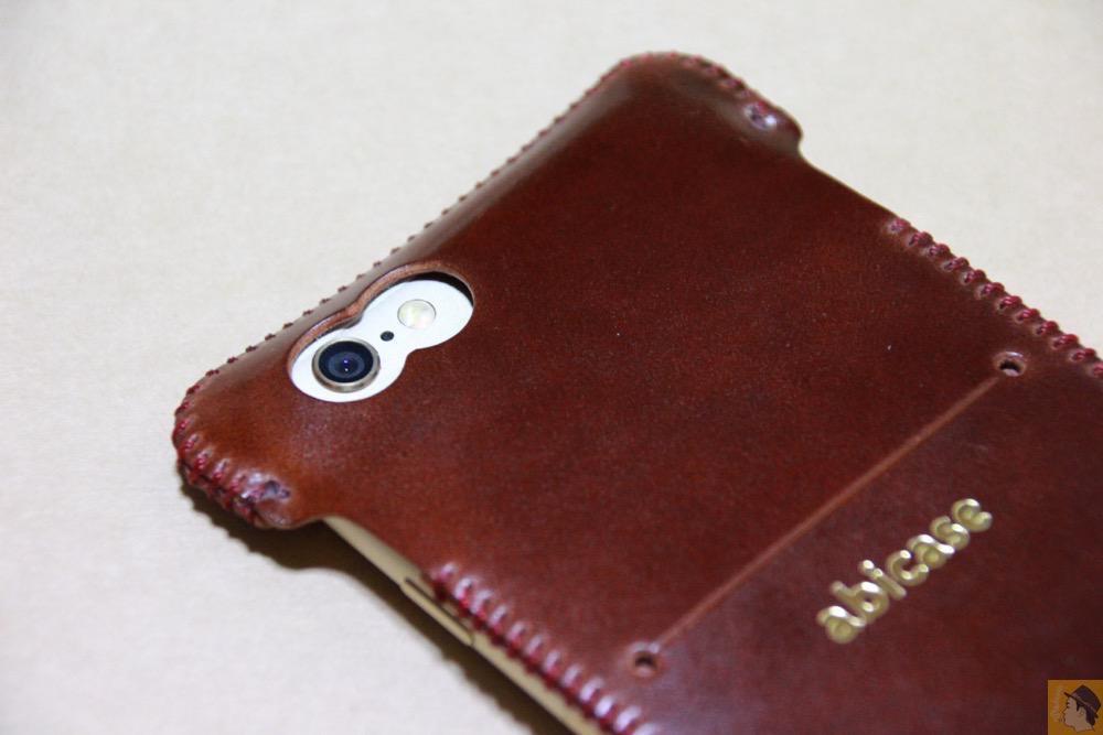 カメラ穴 - レッドブラウン色が魅力的なabicase(アビケース)/ abicase cawa ウォレットジャケット コードバン レッドブラウン  / iPhone 6/6s