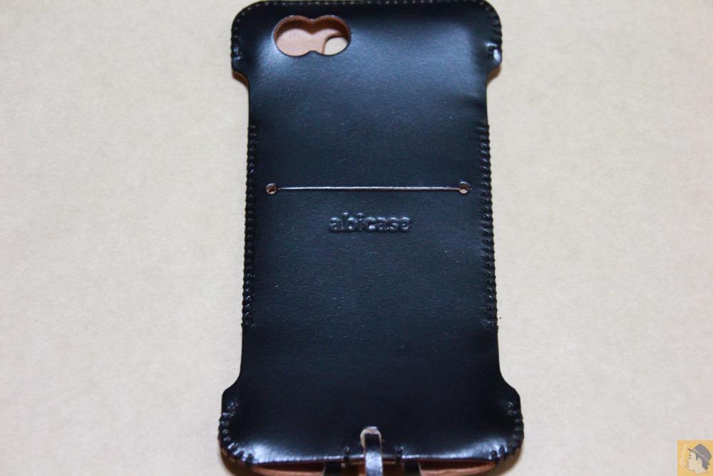 背面 - abicase(アビケース) cawa ウォレットジャケット コードバン 墨黒 / iPhone 6/6s / 墨のような黒さのabicase