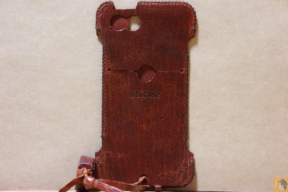 背面 - abicase(アビケース) cawa ウォレットジャケット 鹿革 / iPhone 5/5s / 珍しい鹿革を使ったabicase