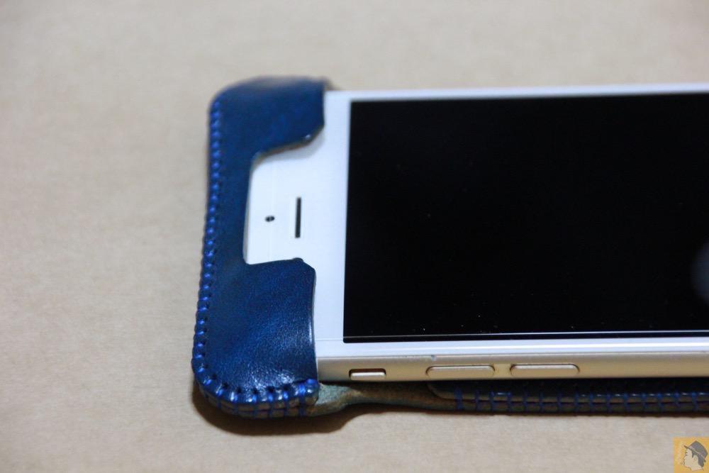 フラップ上部 - 虎模様が綺麗なabicase(アビケース)/ abicase cawa ウォレットジャケット ルガトレザー ブルー / iPhone 6/6s