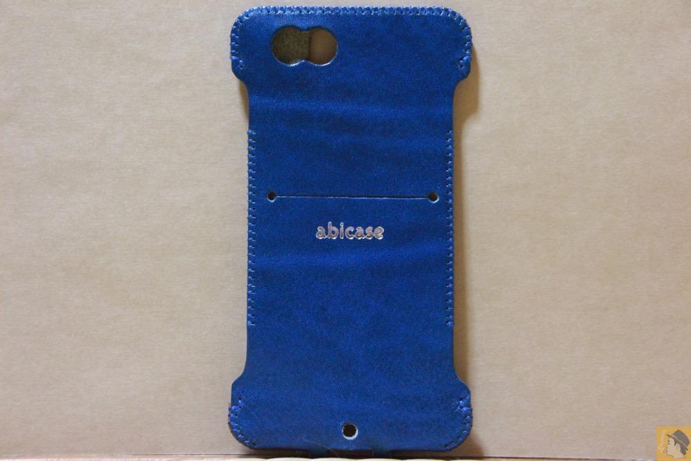 背面 - abicase(アビケース) cawa ウォレットジャケット ルガトレザー ブルー / iPhone 6/6s / 虎模様が綺麗なabicase