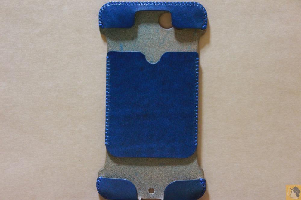 表面 - 虎模様が綺麗なabicase(アビケース)/ abicase cawa ウォレットジャケット ルガトレザー ブルー / iPhone 6/6s