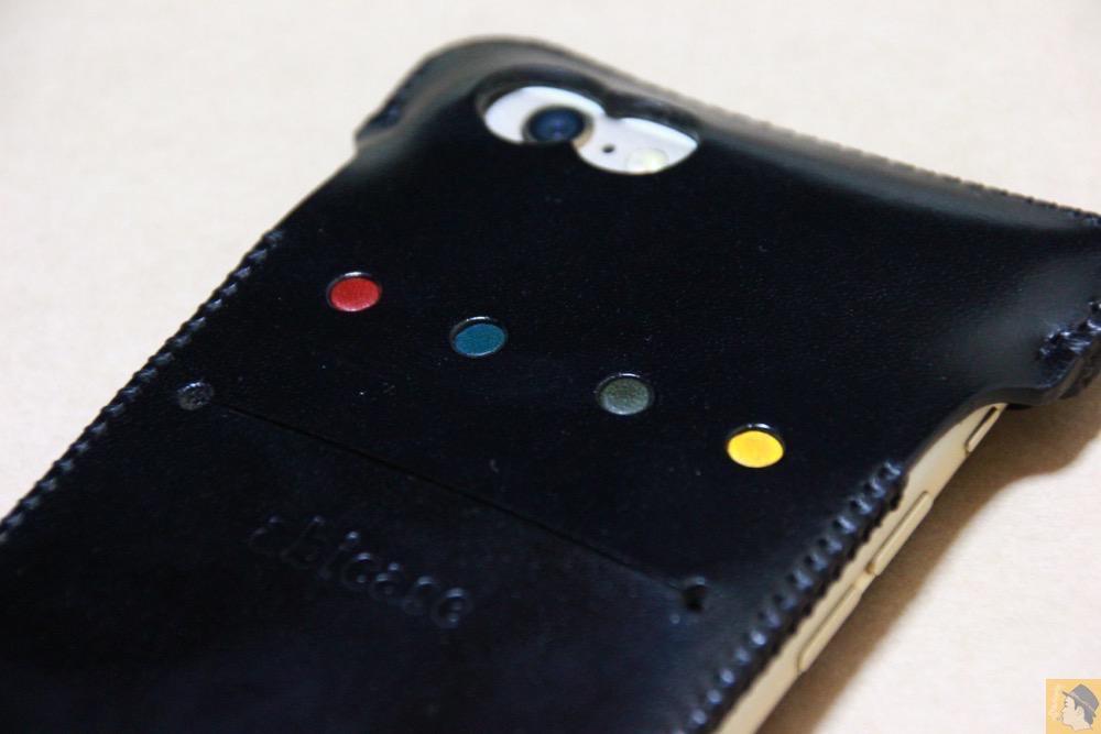 ドット柄『Dpub』 - ドット柄が分かる人には分かるabicase(アビケース)/ abicase cawa ウォレットジャケット 栃木レザー ブラック / iPhone 6/6s