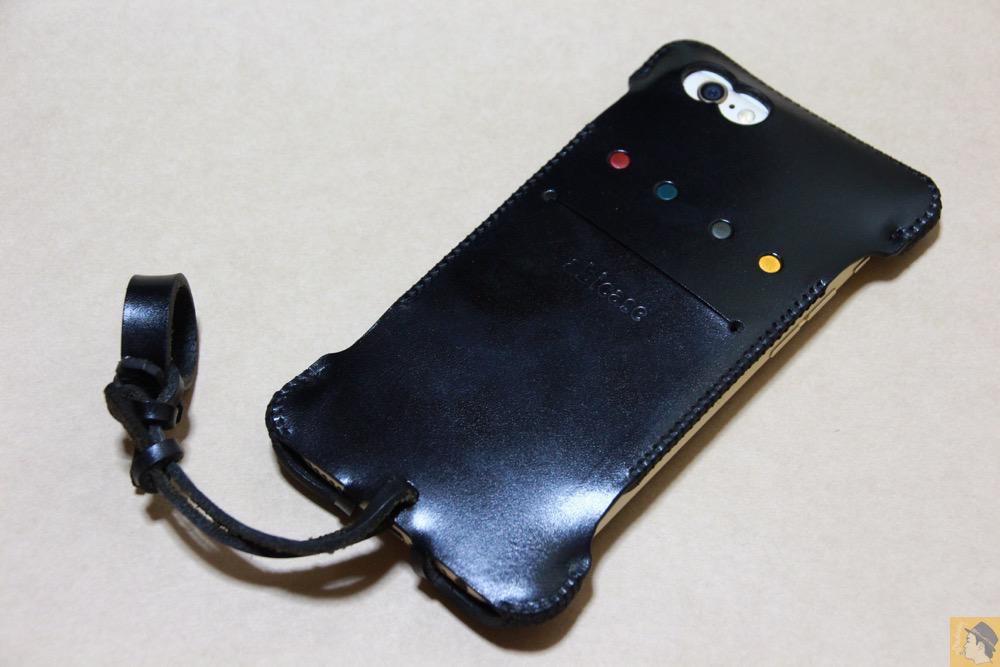 アイキャッチ - abicase(アビケース) cawa ウォレットジャケット 栃木レザー ブラック / iPhone 6/6s / ドット柄が分かる人には分かるabicase