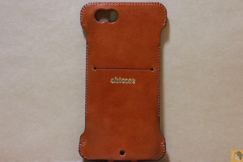 背面 - シンプルにしようと決めシンプルにしたabicase(アビケース)/ abicase cawa ウォレットジャケット 栃木レザー キャメル / iPhone 6/6s