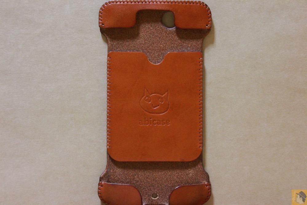 表面 - abicase(アビケース) cawa ウォレットジャケット 栃木レザー キャメル / iPhone 6/6s / シンプルにしようと決めシンプルにしたabicase