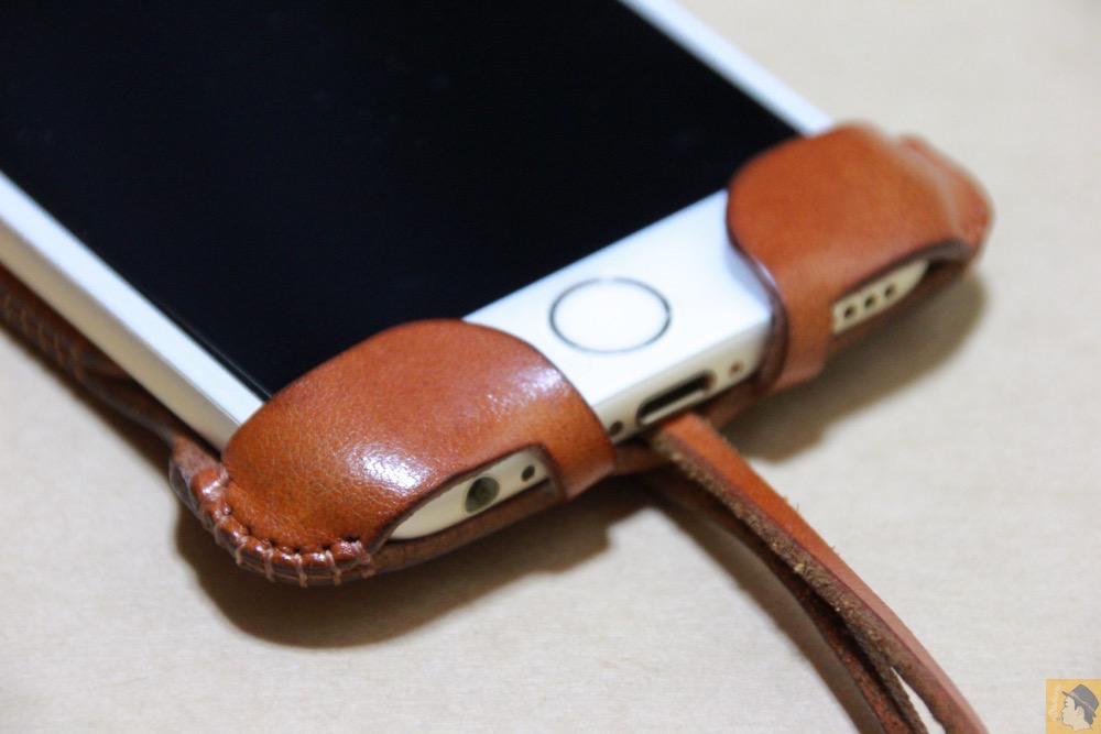 フラップ下部 - abicase(アビケース) cawa ウォレットジャケット 栃木レザー キャメル / iPhone 6/6s / シンプルにしようと決めシンプルにしたabicase