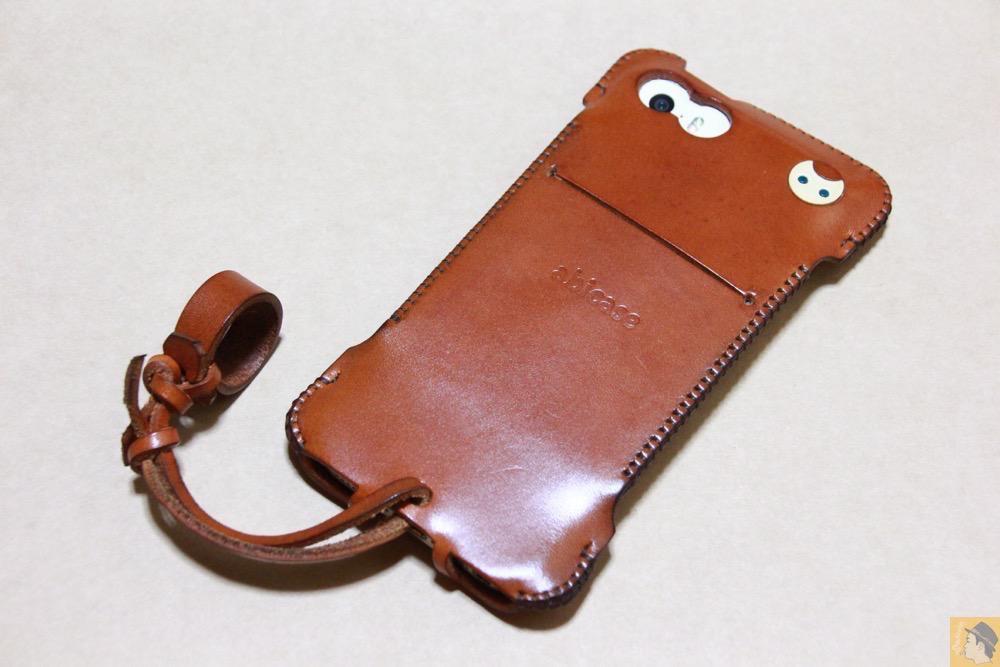 アイキャッチ - abicase(アビケース) cawa ウォレットジャケット 栃木レザー キャメル / iPhone 5/5s / 猫印付き綺麗なキャメル色のabicase
