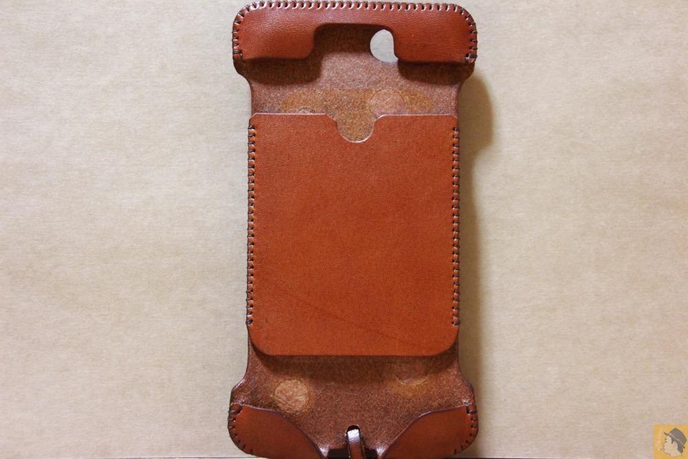 表面 - abicase(アビケース) cawa ウォレットジャケット 栃木レザー キャメル / iPhone 6/6s / 背面のデザインで思いっきり遊んだabicase