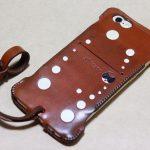 背面のデザインで思いっきり遊んだabicase(アビケース)/ abicase cawa ウォレットジャケット 栃木レザー キャメル / iPhone 6/6s